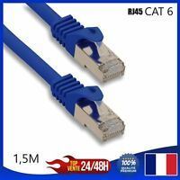 Ethernet-Netzwerkkabel RJ45 Cat 6 Blau 1,5m Meter Computer Konsole Video-Spiele