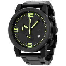 Nixon A3471256 ride ss all black dial stainless steel bracelet men watch NEW