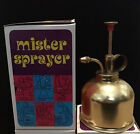 VINTAGE Brass Mister Sprayer Made in Hong Kong (New Old Stock)