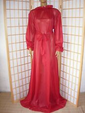 Wundervolles Adult Sissy Nylon Transparent Nachtkleid ROT Negligee