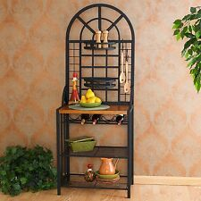 Southern Enterprises Dome Bakers Rack in Solid Metal & Black Finish, Be4650 New