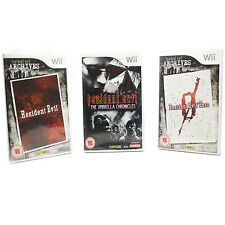 Resident Evil 0, Resident Evil, Resident Evil The Umbrella Chronicles. 3 Games