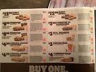 1 Sheet Burger King Coupons 11/28/21