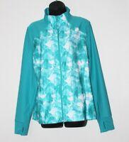 Mondetta women's teal green long sleeve full zip running jacket, size XL, EUC