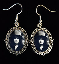 Marc Bolan T-REX Antique Silver Drop Earrings Music Icon 70s Glam Rock