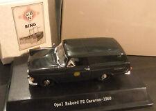 """Bing 1:43  Opel Rekord  Caravan -1960- """"DB"""" 1:43 OVP NEU#"""