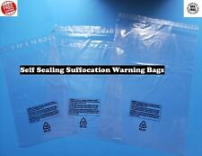 Poly Plastic Bags Suffocation Warning Clear Merchandise Apparel 15 Mil Amazon
