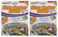 10x Sealapack Slow Cooker Liners Cooking Easy Clean Round Oval No Mess Bags
