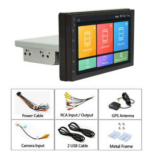 7in HD Car MP5 Player FM Stereo Radio 1DIN Hands Free Android 9.1 2+32G GPS WIFI