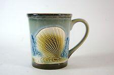 Ceramic Shell Mug Ocean Floor Blue Brown 3D Textured