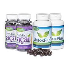 100% Pure Acai Berry Colon Cleanse dieta Combo 2 mes de suministro Evolution Slimming