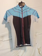 Louis Garneau River Run Cycling Jersey Women's Medium Iron Gray/Heaven Blue