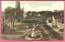 City Square & Soldiers Monument, Biddeford – Maine, United States postcard.