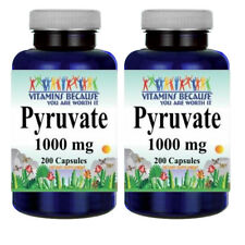 Pyruvate 1000mg 2X200caps (from Calcium) by Vitamins Because