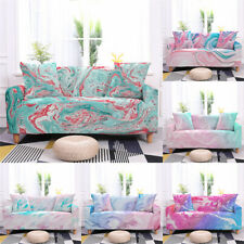 1/2/3/4 Seaters Sofa Covers Colorful Printing Protector Stretch Cover Polyester