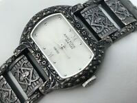 Anne Klein Swiss Ladies Watch Antique Style Black Tone Analog Wrist Watch