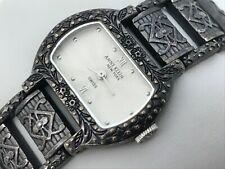 Anne Klein Swiss Ladies Watch Antique Style Black Tone Analog Wrist Watch