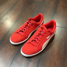 Puma Suede Classic Casual Red Shoes - Size 10.5