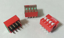 DIP Switches Slide 4-Position OFF ON SPST Through Hole APEM NDS04TV NEW 39pcs