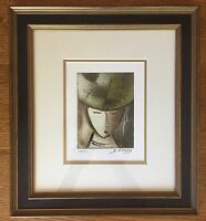 DAVID SCHLUSS SIGNED AND NUMBERED SERIGRAPH FRAMED