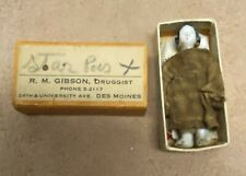 Vintage Frozen Charlotte Doll in outfit and in Matchbox - R.M Gibson Des Moines