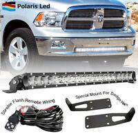 "For Dodge Ram 2500 3500 20 inch 21""LED Light Bar+ Wiring+Bumper Mounting Bracket"