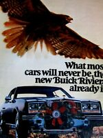 1979 Buick Riviera Rare Breed 2 page Fold Out Original Print Ad 8.5 x 11 ""