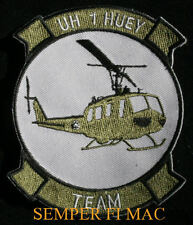 UH-1 HUEY HAT PATCH US NAVY MARINE ARMY AIR FORCE HELICOPTER PIN UP AFB MCAS WOW
