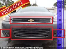 GTG 2006 - 2013 Chevy Impala LT 4PC Polished Overlay Combo Billet Grille Kit