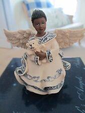 "SARAH 'S  ANGELS ~ PRISCILLA  HOLDING A BEAR ~ ""  LITTLE BIT OF HEAVEN "" #32024"