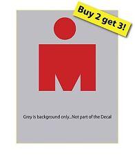 Iron Man Red Decal/Sticker 140.6 Marathon Runner Swimming Biking 3x4