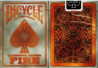 Fire Elements Series Gray Bicycle Playing Cards Poker Size Deck USPCC Brand New