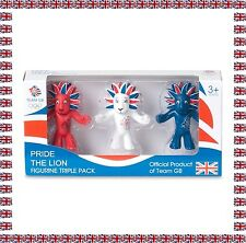 Set de 3 Figurines Pride The Lion Mascotte Jeux Olympiques de Londres