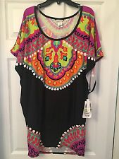 Trina Turk Nuevo Sol Swimsuit Coverup Caftan Tunic Large Brand New Never Worn