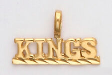 LOS ANGELES KINGS Necklace Pendant Charm 24K Gold Plated Team Name Fan Jewelry