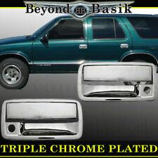 1994-2003 CHEVROLET S10 2DR Reg Cab Chrome Door Handle Covers w/PSK Overlays