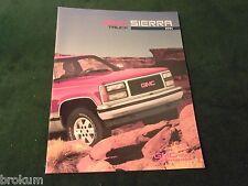 MINT 1991 GMC TRUCK SIERRA 24 PAGE SALES BROCHURE NEW ORIGINAL  (BOX 321)