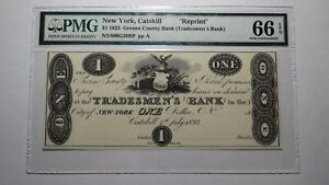 $1 1823 Catskill New York NY Obsolete Currency Bank Note Bill! Reprint UNC66EPQ