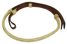 Showman 4 ft Rawhide Braided Leather Over & Under Whip w/ Rawhide Braiding!