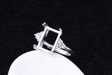 925 Sterling Silver Ring Blank | 8x11mm Setting | Plaqué Platine