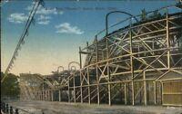 Savin Rock CT Racer Roller Coaster c1910 Postcard