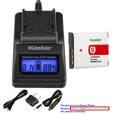 Kastar Battery LCD Fast Charger for Sony NP-BG1 Sony Cyber-shot DSC-H9 Camera