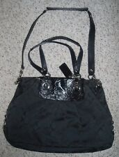 COACH ASHLEY Signature Black Convertible Tote Satchel Shoulder Purse Bag F15510