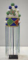 Hat African Yoruba Beaded Bird Crown
