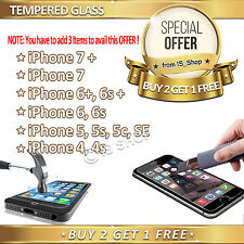 Tempered Glass Screen Protector for iPhone 4 4s 5 5S 5C SE 6 6+ 6S Plus 7 7+ 8