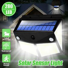 280 LED PIR Motion Sensor Solar Power Garden Light Outdoor Yard Lamp Waterproof
