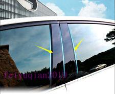8x Black Side Window PC plastic Pillars Post Cover For Hyundai Elantra 2017-2018