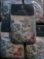 NIP Ralph Lauren Villandry Sateen Cotton Floral Standard PILLOWCASES 450tc NEW!