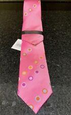 Reduced!!! Steven Land 100% Silk Pink Tie With Hankie  New  #44