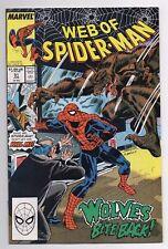 Marvel Comics Web of Spider-Man #51 Vf/Nm Wolves Bite Back!